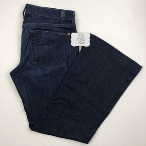 7 for all mankind dojo flare jeans 31x30